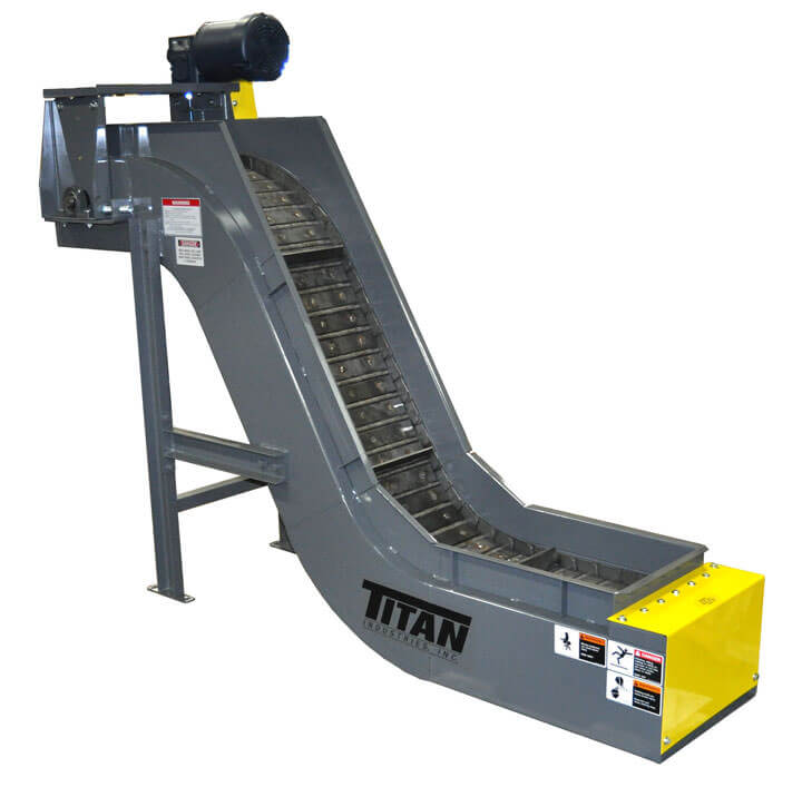 Model 630 Hinged Steel Belt Conveyor with Long Infeed Section and Top Mount Drive Cleated Belt