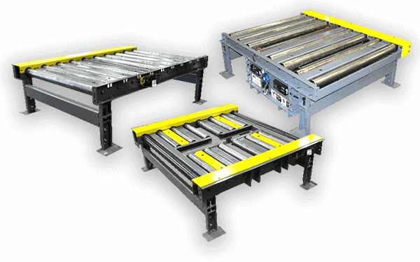 three versions of motorized roller conveyors