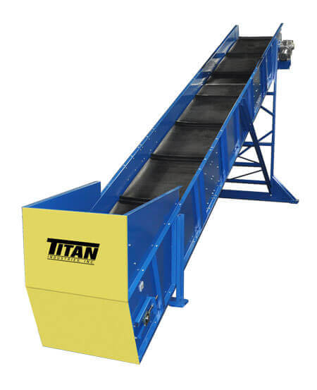 Elevating Conveyors Custom Recycling Systems Shredding